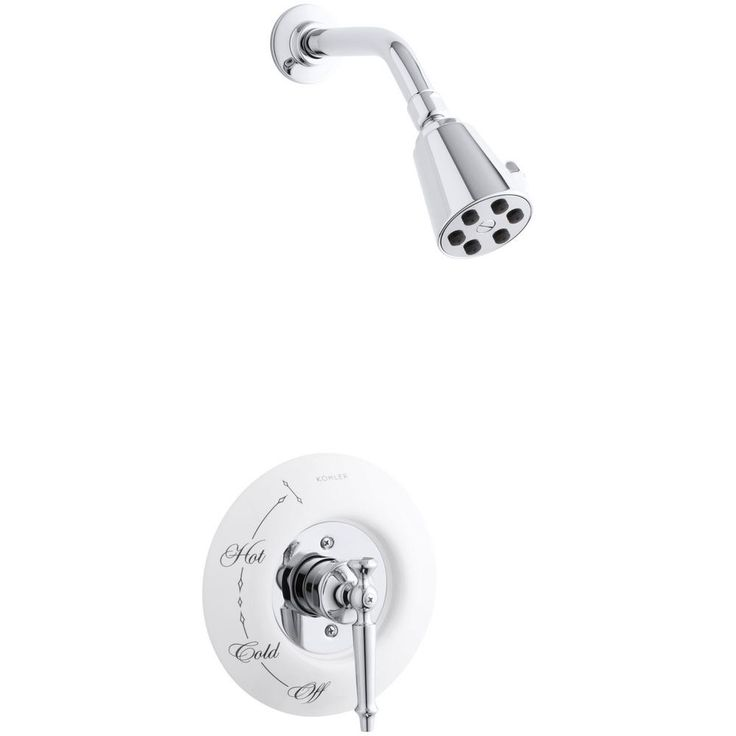 2.5 GPM Fixed Shower Head With Lever Handle