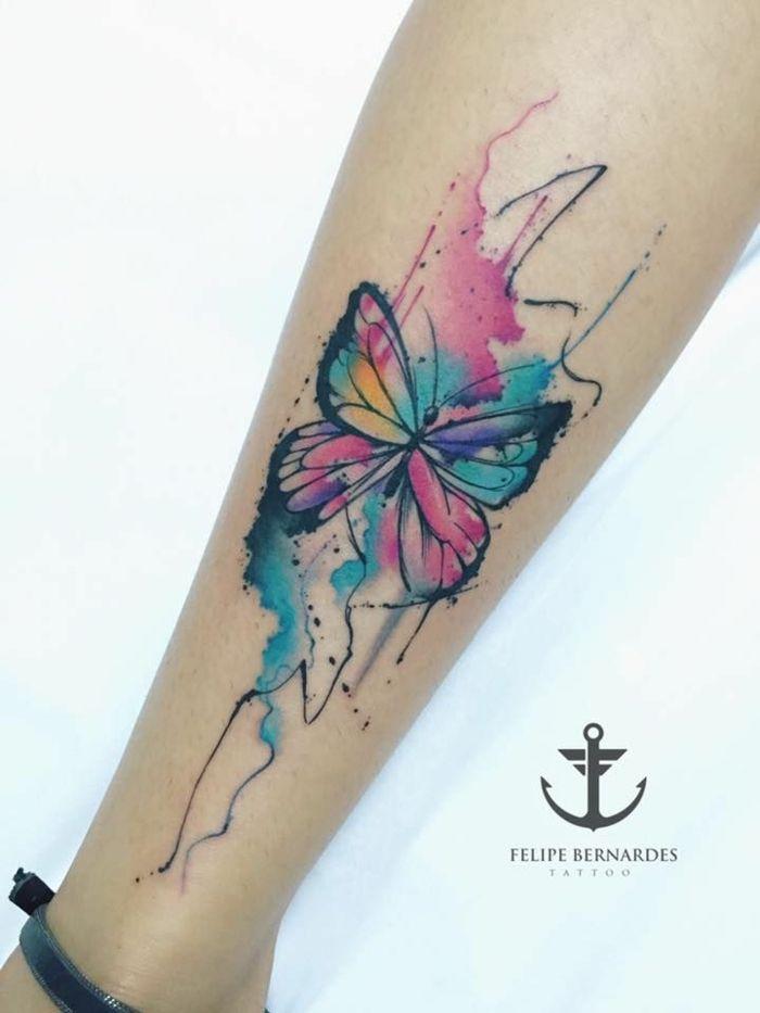 1001 Ideas De Tatuajes De Mariposas Super Bonitos Tatuajes De Acuarela Tatuaje De Mariposa En El Hombro Mariposa Tatuaje