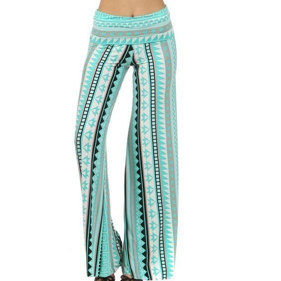 wide leg stretch pants - Pi Pants