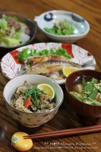 炊き込みご飯とあじの干物 献立♪ by manaさん | レシピブログ - 料理 ...