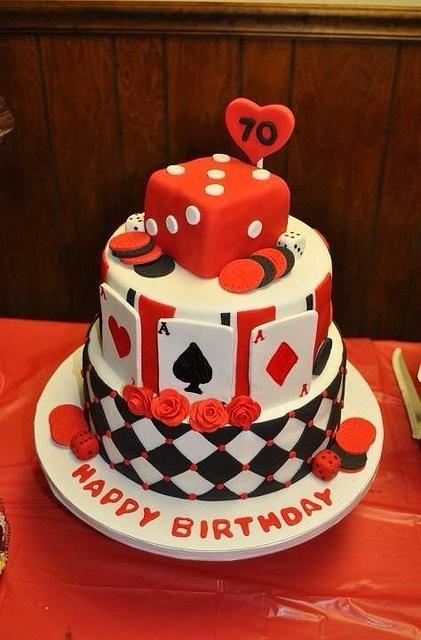 Casino themed cake by amoscarella, via Flickr
