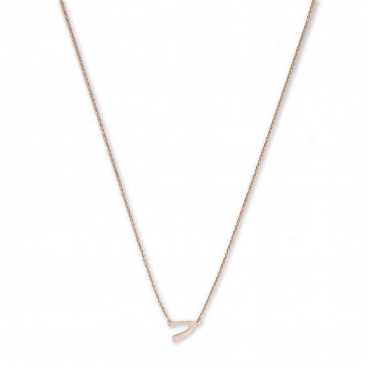 Super Stylish   Necklace   Wishbone *** De Necklace Wishbone is een subtiel kettinkje van Super Stylish. Het kettinkje is vervaardigd van hoogwaardig sterling 925 met hoogglans finish in zilver, rosé of goud.
