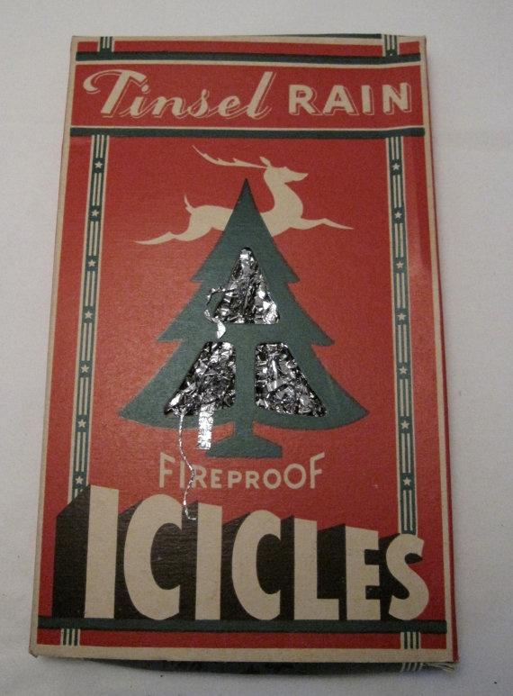 1944 vintage antique tinsel rain lead icicles christmas