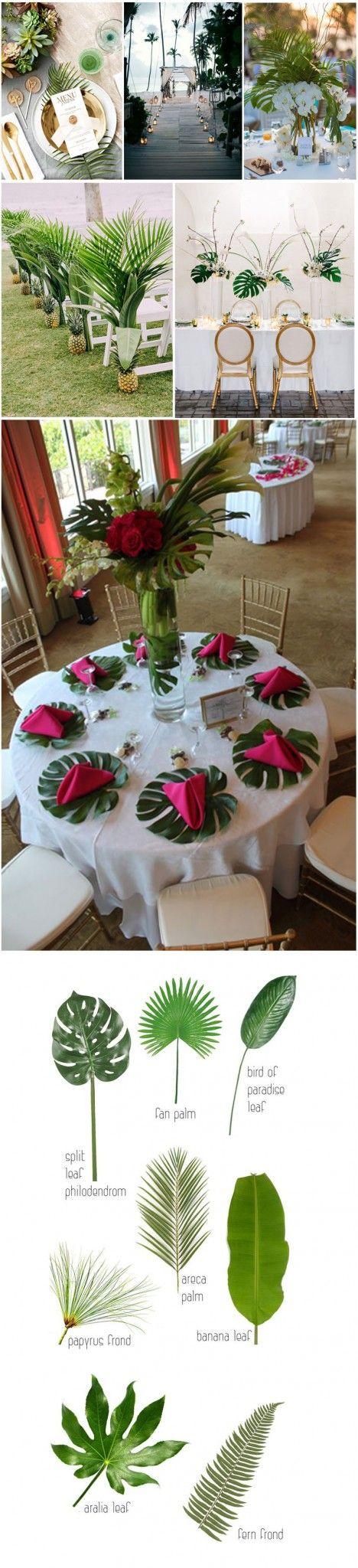 Creative tropical wedding decor ideas