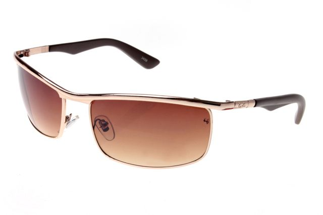Ray Ban Active Lifestyle Solid RB3459 Brown Rose Gold Sunglasses
