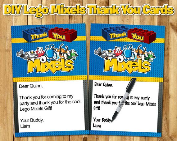 Lego Mixels Birthday Thank You Note  Lego Mixels by InstaBirthday