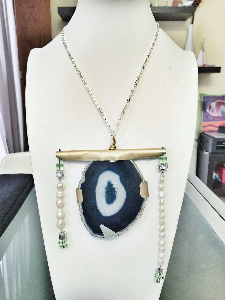 Agatha, brass, alu & pearls  www.temporarylab.com