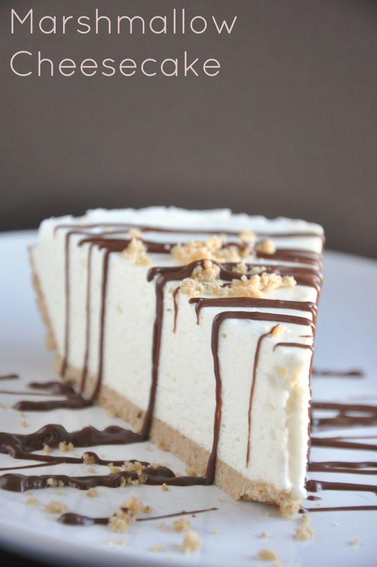 Easy Marshmallow Cheesecake