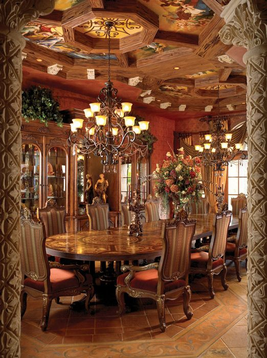 Mediterranean Design Dining Room