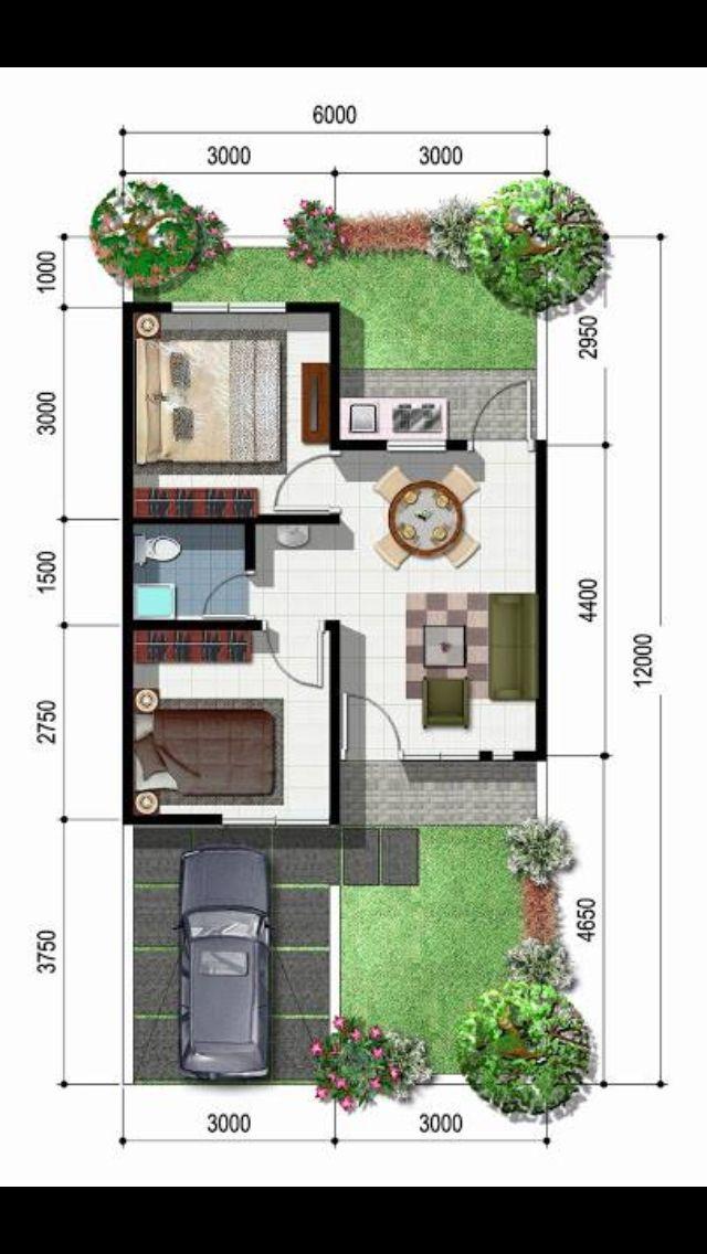 2 recamaras sin cocina planos de la casa en 2019 for Casas prefabricadas pequenas