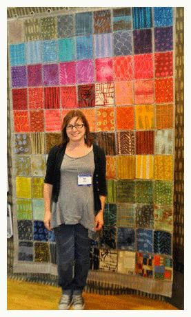 Big fan of Marcia Derse's fabrics! [Marcia Derse with hand dyed fabrics]