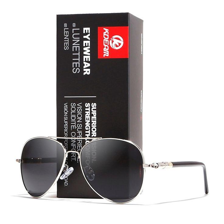 KDEAM 2018 Fashion Men Sunglasses Retro Metal lentes de sol hombre Polarized HD lens vintage oculos With Original case KD1099