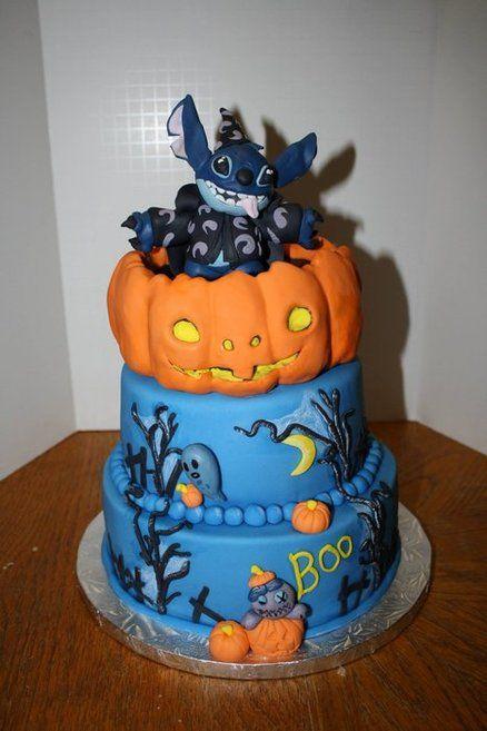 Halloween Stitch Cake by RocketCakes