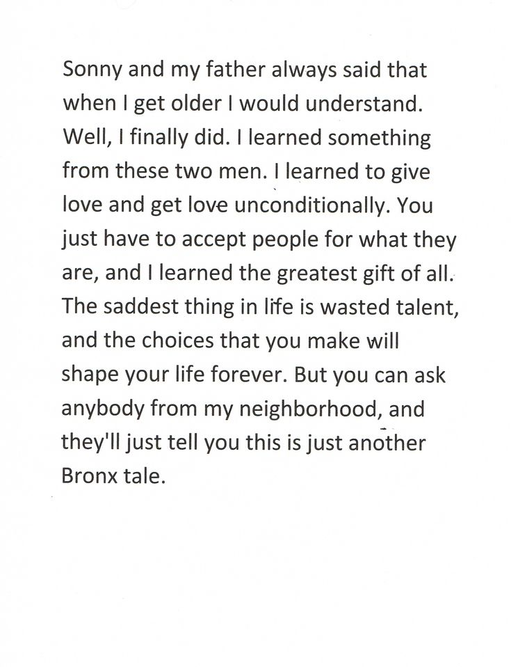 bronx tale quotes - Google Search