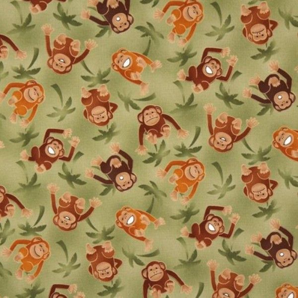 Over the Rainbow Monkey Fabric to sew