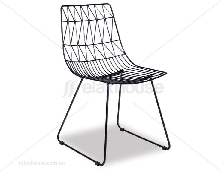 KAS - Modern Wire Dining Chair - Black Replica Bend Chair