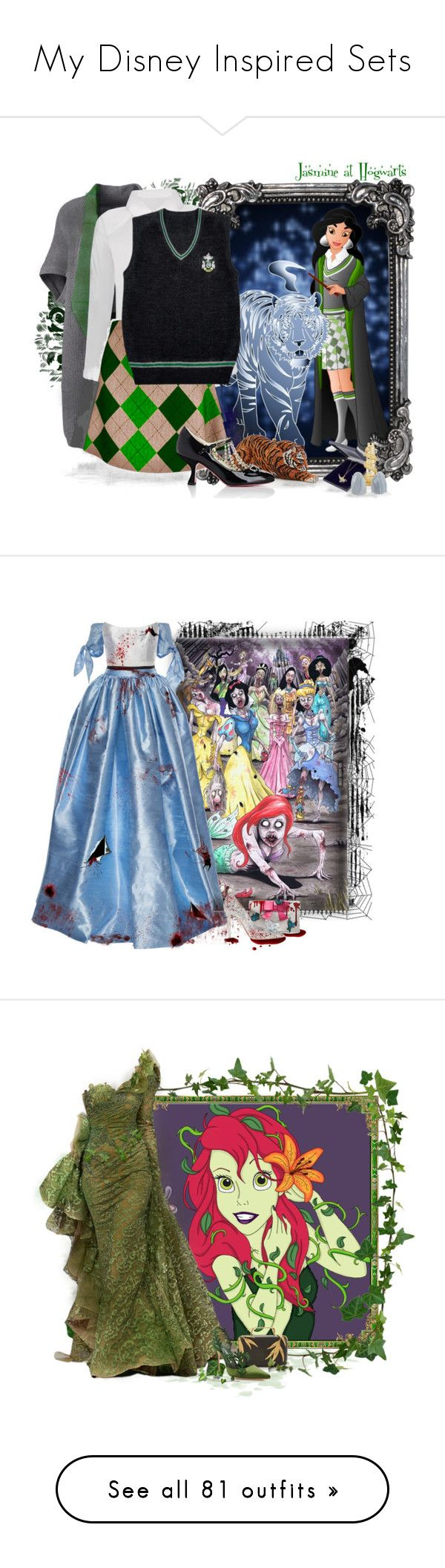 """""""My Disney Inspired Sets"""" by love-n-laughter ❤ liked on Polyvore featuring disney, Lands' End, Gucci, Cathy Waterman, Kilian, plus size clothing, Disney, Lela Rose, Alex Perry and Danielle Nicole"""
