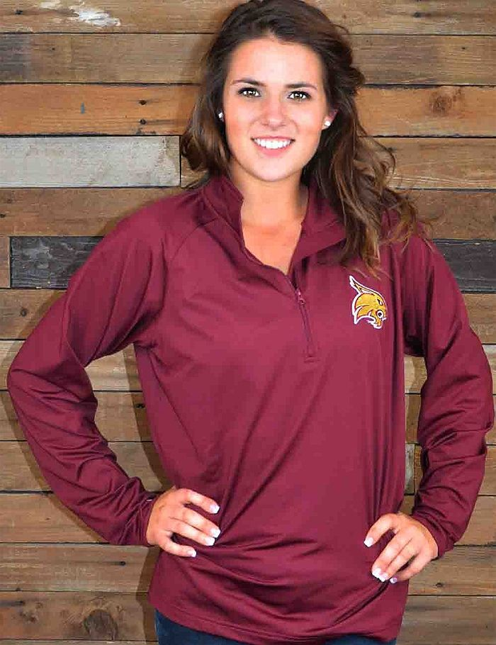 Stay warm during those chilly Texas State Bobcats game nights with this performance pullover. What a perfect way to show your school spirit. Go Bobcats!