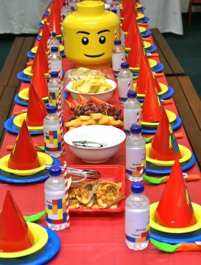 Lego Birthday Party Ideas - love the primary colors!
