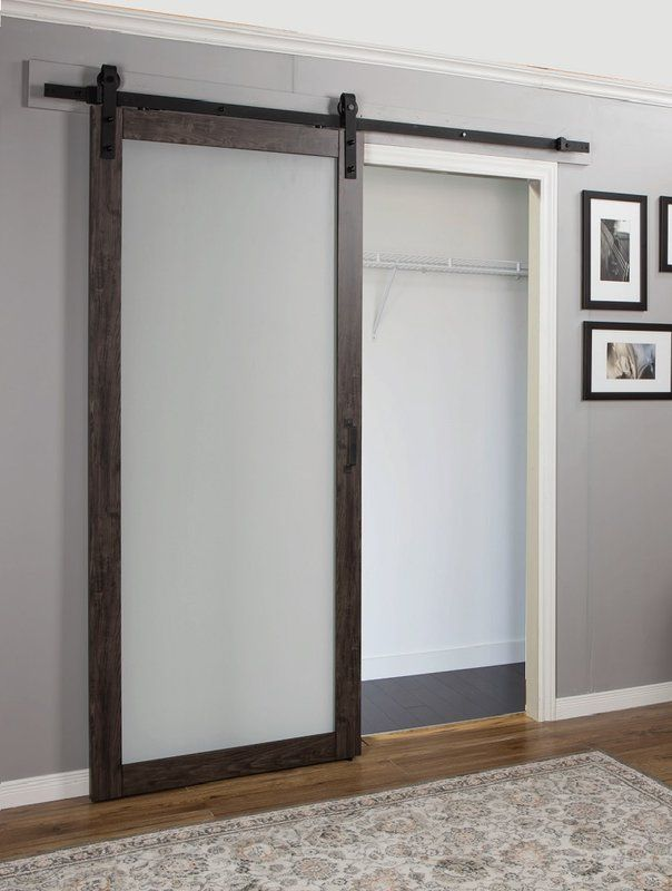 Continental Glass Barn Door With Installation Hardware Kit Glass Barn Doors Interior Glass Barn Doors Wood Doors Interior
