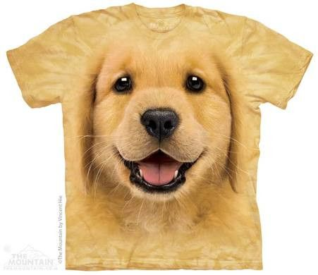 Wearer beware: You may receive many compliments on this shirt... it's just that cute. The golden retriever is America's favorite dog and makes for the perfect shirt ever. Buy it, you won't be disappoi