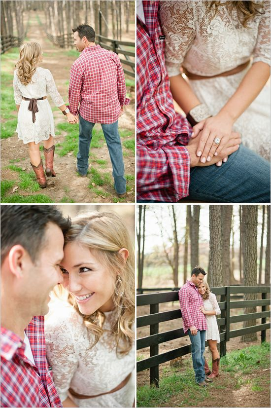Outdoor country engagement shoot
