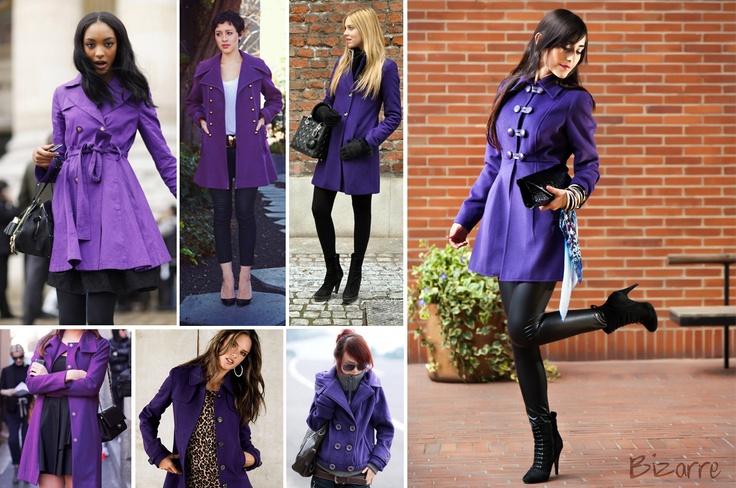 purple, coat, fashion, street trend, bizarre