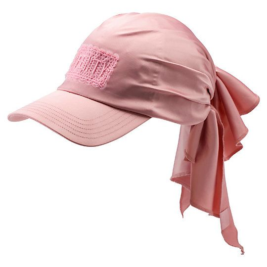 <p>A lush satin bandana—tied off with a big back knot—creates the stylish silhouette of the Bandana Cap. This update to last season's style features a satin finish and fine lace FENTY appliqué. It's a cap with a polished air that's suitable almost anywhere.</p><p>Features</p><ul><li>Visor cap with tying, satin bandana outer that can be worn tied or untied</li><li>Lace FENTY insignia appliqué</li&...