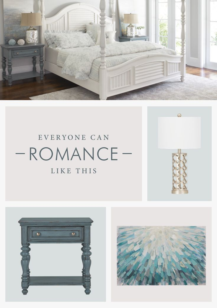 Love is in the air—for home décor, that is! Dusty blues and beachy vibes are an easy way to add sweet romance to your bedroom for Valentine's day.