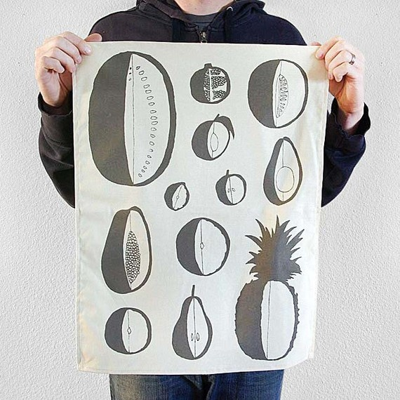 Organic cotton tea towel - Fruit $20.00 USD