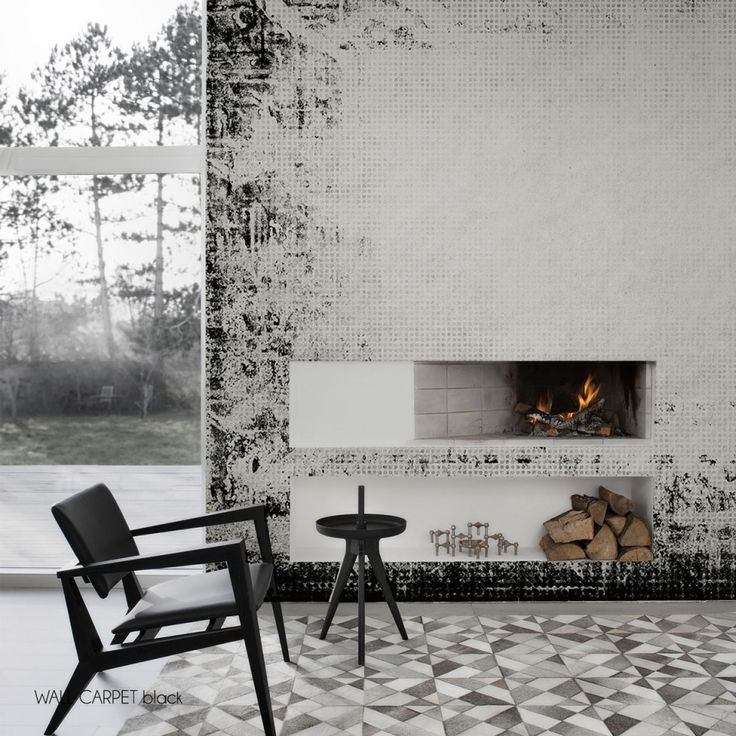Our gorgeous contemporary wall carpet wallpaper mural by behangfabriek features