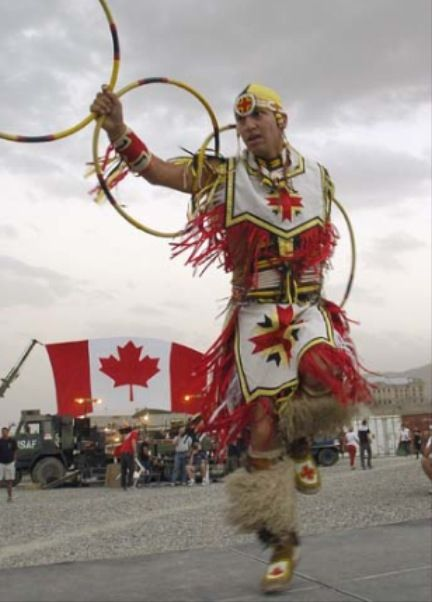 First Nations dancer in Canada Day celebrations