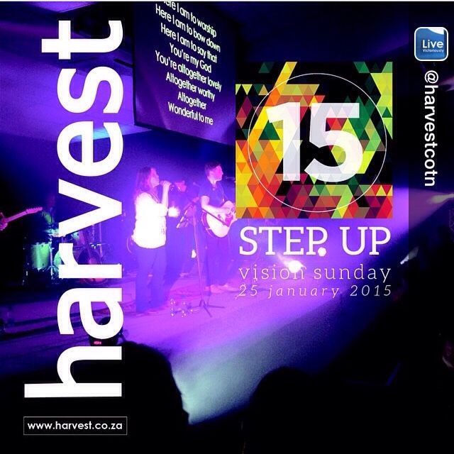 STEP UP FOR VISION SUNDAY Join us today at Harvest 9am | 5.30pm