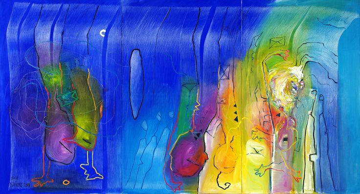 """Dream Fire by Soile Yli-Mäyry, Oil on canvas, 44"""" x 55"""", 2012"""