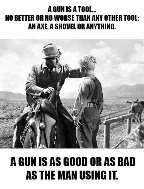 Guns are tools