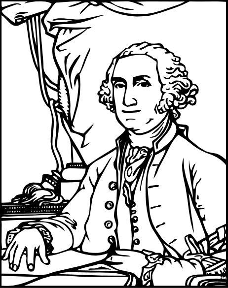 Free Downloadable Coloring Sheet George Washington
