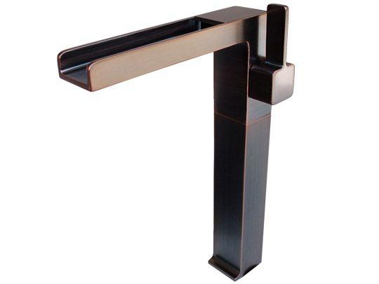 "Oil Rubbed Bronze Modern Cascade Waterfall Vessel Faucet 11.4"" h, 7""spout. $404"