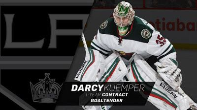 Kings Agree To Terms With Goaltender Darcy Kuemper On A One-Year Contract
