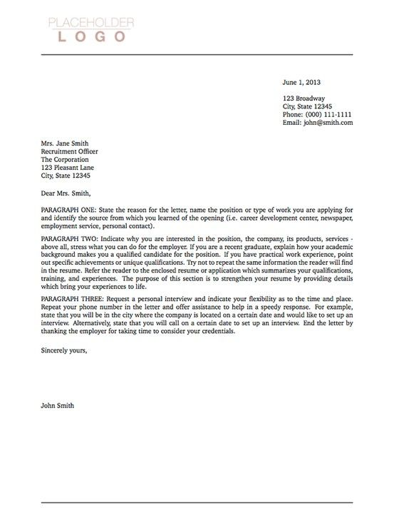 Latex Font Cover Letter