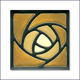 Arts & Crafts Motawi Tiles - Hunter Rose motif