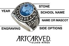 Order Your Artcarved Class Ring today from BECKER JEWELERS!