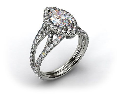 Beautiful vintage marquise halo ring by James Allen! Absolutely love everything about this, This ring is pretty perfect. The diamond could be a little bigger though :P