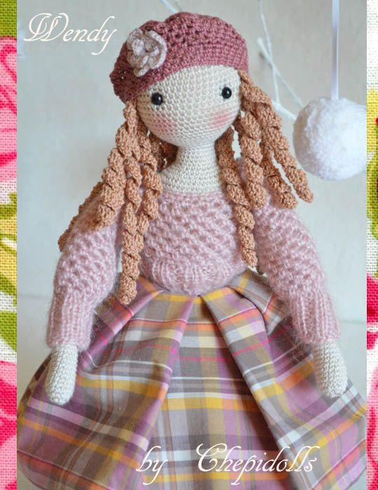 Collectible doll Elegant crochet doll child friendly von chepidolls