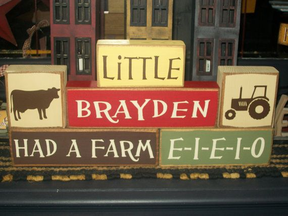 Hey, I found this really awesome Etsy listing at https://www.etsy.com/listing/204349120/new-farm-animals-themed-personalized-six