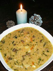 Wigilijna zupa grzybowa z serkiem topionym