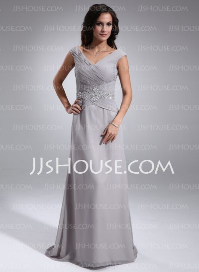 Mother of the Bride Dresses - $126.99 - A-Line/Princess Off-the-Shoulder Sweep Train Chiffon Mother of the Bride Dress With Ruffle Beading Sequins (008005681) http://jjshouse.com/A-Line-Princess-Off-The-Shoulder-Sweep-Train-Chiffon-Mother-Of-The-Bride-Dress-With-Ruffle-Beading-Sequins-008005681-g5681