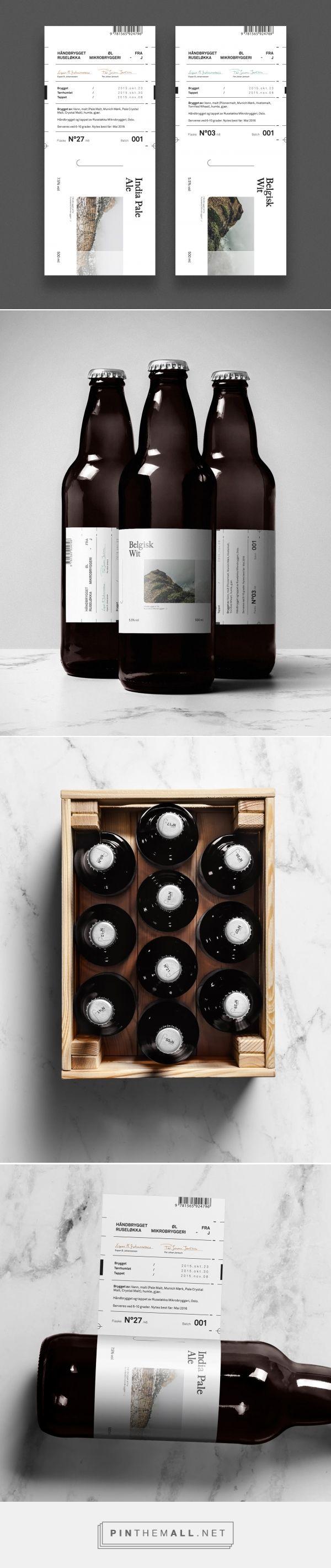 Ruseløkka Microbrewery beer label design by Nicklas Hellborg - http://www.packagingoftheworld.com/2016/11/ruselkka-microbrewery-concept.html