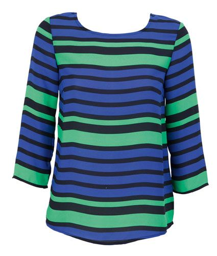Farmers   Whistle Striped Top Blue   $39.99