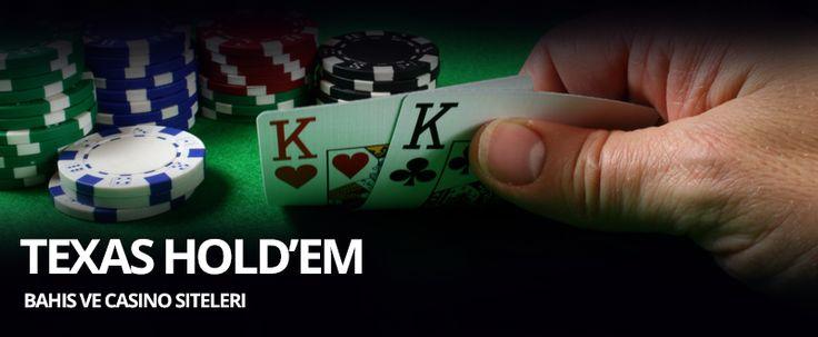 Texas Holdem Poker Oynanan Bahis Siteleri    Texas holdem poker, bahis ve casino siteleri tarafından en çok tercih edilen iskambil oyunlarından biridir. Masa oyunları arasında en çok strateji gerektiren oyun Texas Holdem Poker'dir. Holdem poker oynamadan önce kesinlikle kartların işlevini ve hangi elin büyük sayıldığını öğrenmelisiniz.
