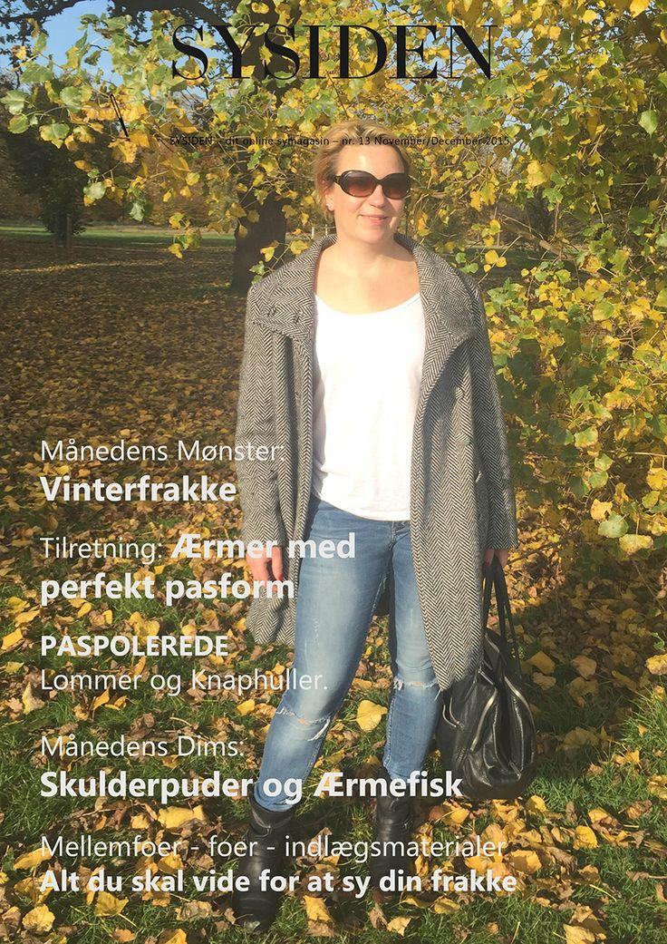 Symønster OG tema-magasin om vinterfrakker. Magasinet har artikler om alt hvad du skal vide om bla stof, indlæg, syteknikker mm, når du syr vinterfrakker.